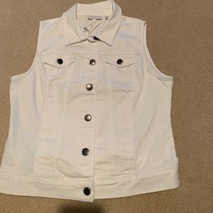 White Denim Vest